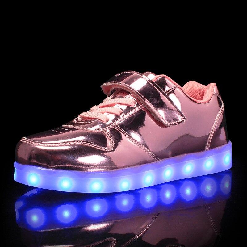 2cc23eb58b791 Świecące tenisówki dla dziewczynek podświetlane trampki świecące trampki  dziecięce buty Led świecące tenisówki z ładowania zapatos de luces