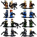 Counter Strike Special Force building block 16pcs war military Mercenary army solider weapons compatible legoes toys