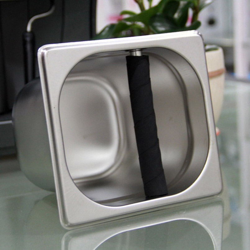 1 Pc Professional Coffee Knock Box Residue Bucket Coffee For Barista Stainless Steel Coffee Grounds Container Coffeeware 1 Pc Professional Coffee Knock Box Residue Bucket Coffee For Barista Stainless Steel Coffee Grounds Container Coffeeware