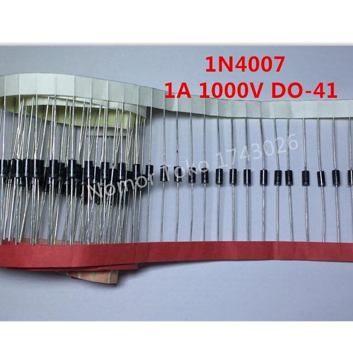Высокое качество 100 ШТ. 1N4007 4007 DO-41 1A 1000 В Высокое качество Выпрямительного Диода Профессиональный терминал Ic…