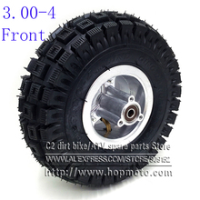 3.00-4 Electric Scooter Front Wheel with QIND tyre Alloy Rim hub and inner tube wheels Gas scooter bike motorcycle 2 pieces lot 88a 100mm scooter wheels with bearings alloy steel wheel hub high elasticity and precision speed skating wheel a116
