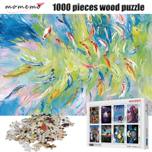 MOMEMO Abstract Painting Fish Jigsaw Puzzle 1000 Pieces Adult Puzzles Wooden Toys Children Educational