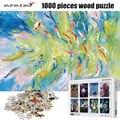 MOMEMO Abstrakte Malerei Fisch Puzzle 1000 stücke Erwachsene Puzzles 1000 stücke Holz Puzzle Spielzeug Kinder Pädagogisches Spielzeug