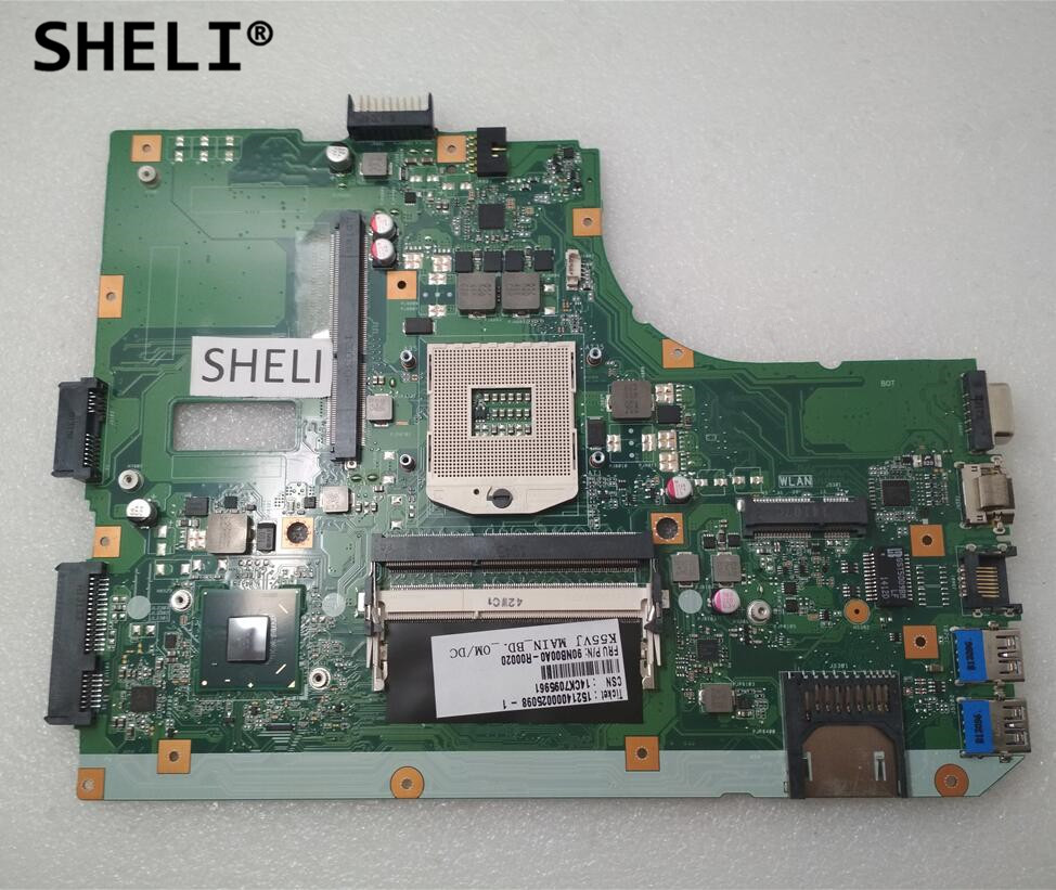 SHELI For Asus A55V K55VM K55VJ Motherboard REV 2.2 HM77 60NB00A0-MB1000SHELI For Asus A55V K55VM K55VJ Motherboard REV 2.2 HM77 60NB00A0-MB1000