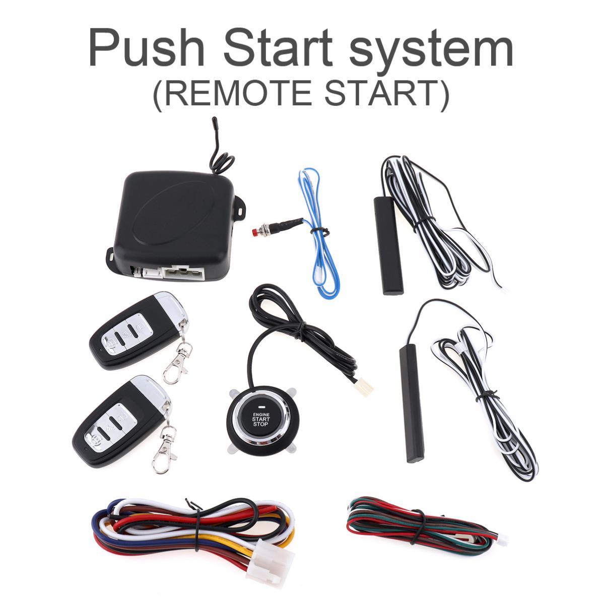 Keyless Entry Car Push Start Button Rfid Lock Engine: Smart Car Alarm Engine Starline Push Button Start Stop