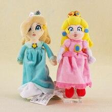 23cm New Super Mario Bros Princess Peach & Rosalina Salina Plush Toy Doll Kids Gifts Free Shipping