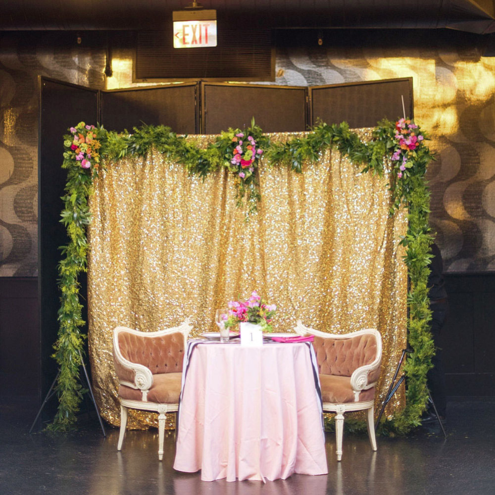 5FT* 6FT Gold/Silver Fabric Photography Wedding Backdrops Sequin Photo Booth For Christmas Party Decoration