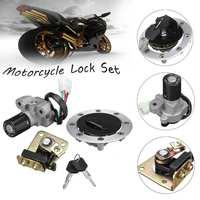Lockset Ignition Switch Fuel Gas Cap Seat Lock Keys for Suzuki GS500 89 00 GSX400 GK79A 94 99 NEW ARRIVAL