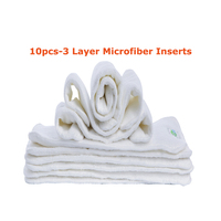 Hot Sale 10 PCS LOT Reusable Cloth Diapers Inserts Easy Use Soft Breathable Baby Modern Baby