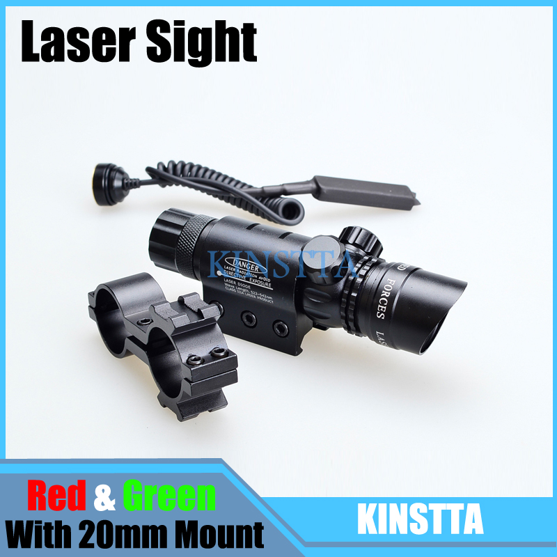 KINSTTA Tactical Bore Sight Green / Red Dot Laser Sight Scope Designator Emitter Airsoft Rifle Gun Laser Scope For Airsoft 3 10x42 red laser m9b tactical rifle scope red green mil dot reticle with side mounted red laser guaranteed 100%