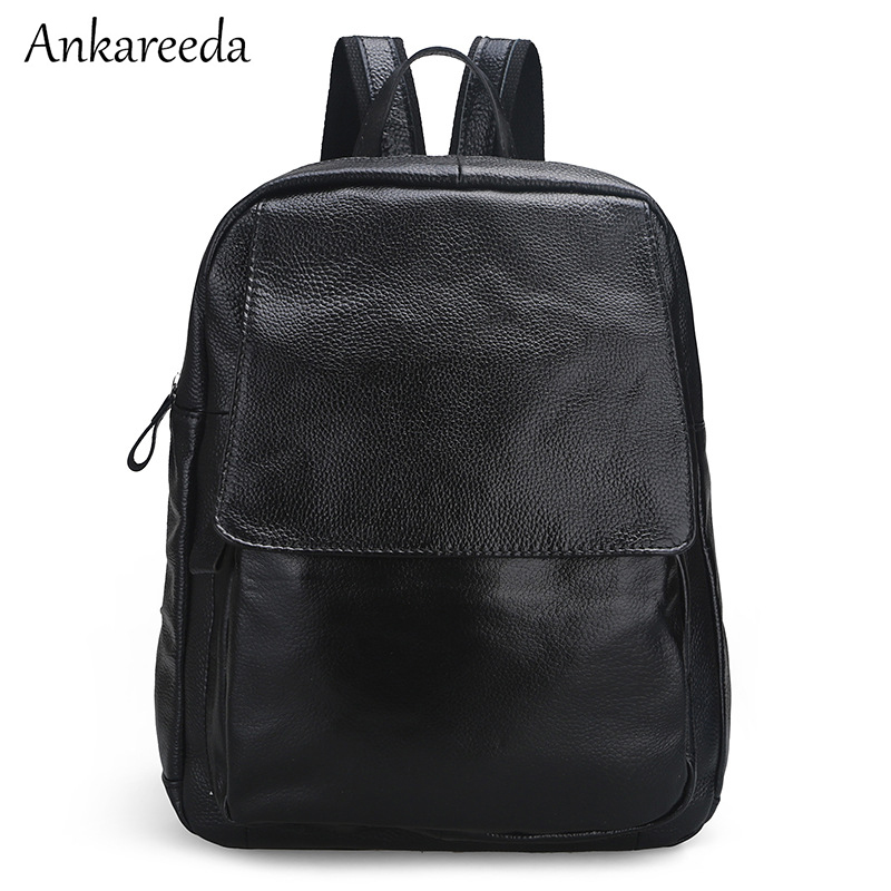 Brand Genuine Leather Women Backpack High Quality Luxury Bagpack Fashion Designer Travel Bag for Girls Preppy Style School Bags yjgjz house fashion serpentine women leather backpack luxury brand designer back bag for teenager girl high school students bag