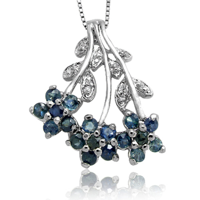 Collares Collier Qi Xuan_Dark Blue Stone Flower Pendant Necklace_Real Necklace_Quality Guaranteed_Manufacturer Directly Sales Collares Collier Qi Xuan_Dark Blue Stone Flower Pendant Necklace_Real Necklace_Quality Guaranteed_Manufacturer Directly Sales