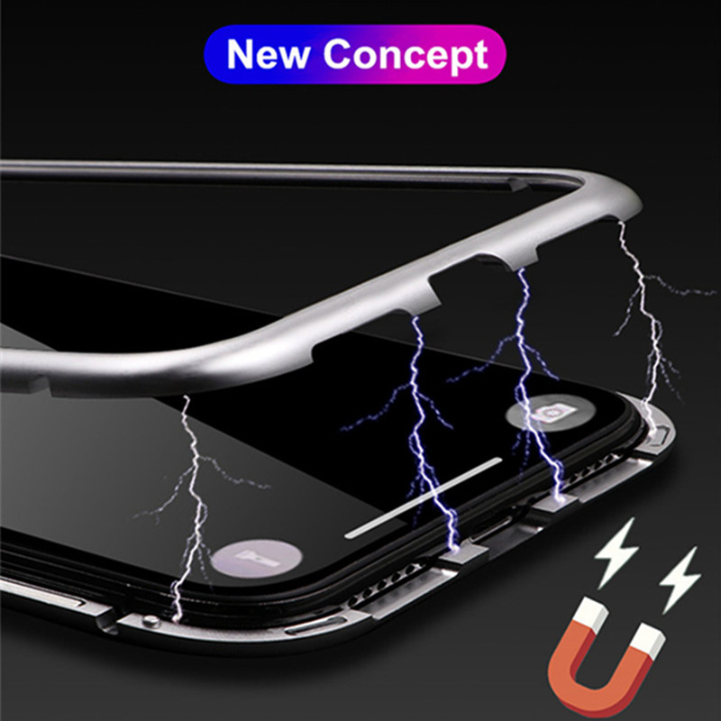 HTB1p6aSdjfguuRjSspaq6yXVXXaC - GETIHU Metal Magnetic Case for iPhone XR XS MAX X 8 Plus 7 +Tempered Glass Back Magnet Cases Cover for iPhone 7 6 6S Plus Case