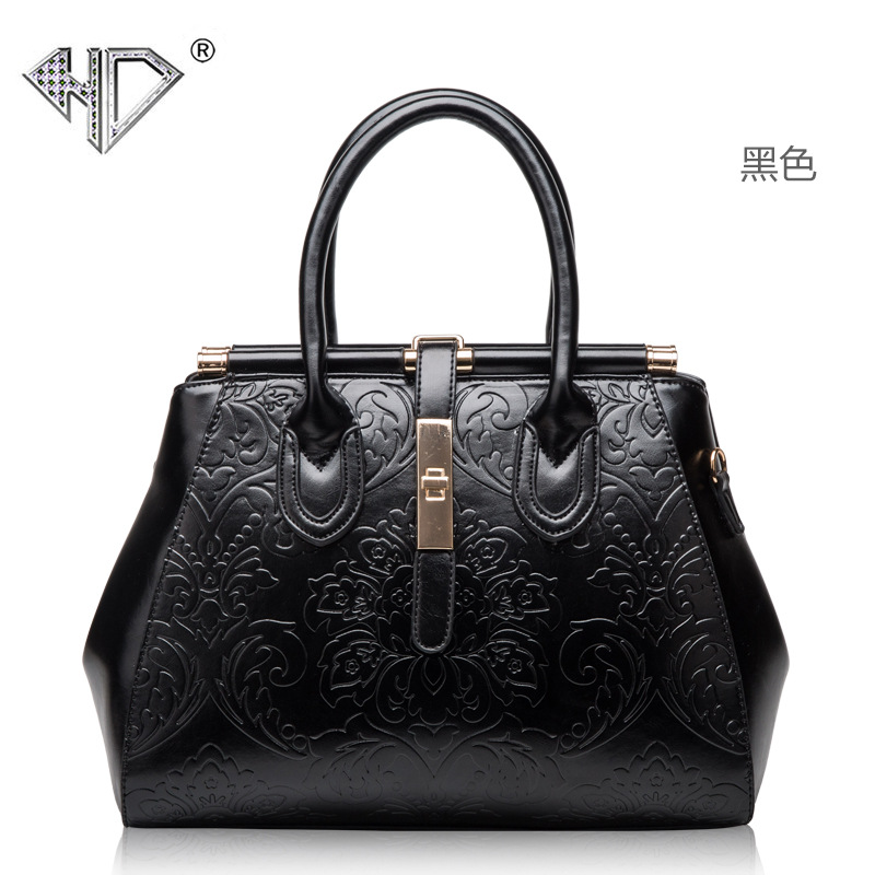 HD women leather fashion female bag  elegant Chinese style wind restoring  flower ancient ways single shoulder bag handbag цена и фото