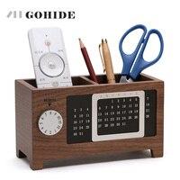 JUH Eine Natürliche Holz Schreibtisch Aufbewahrungsbox Einfache Design DIY kalender Funktion Stifthalter Sammlung Fall Farbe Stil In Option ZLCP