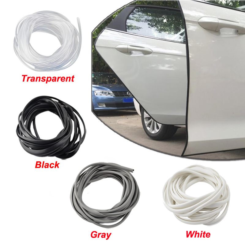 8pcs Car Door Edge Black Rubber Molding Trim Protector Bumper Strip Anti Scratch