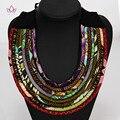 2020 Heißer Verkauf Boho Stil Multi Seil Kette Choker Halskette Für Frauen Afrikanischen Stil Körper Schmuck Halskette Für Beste Freund WYA07-in Drehmomente aus Schmuck und Accessoires bei