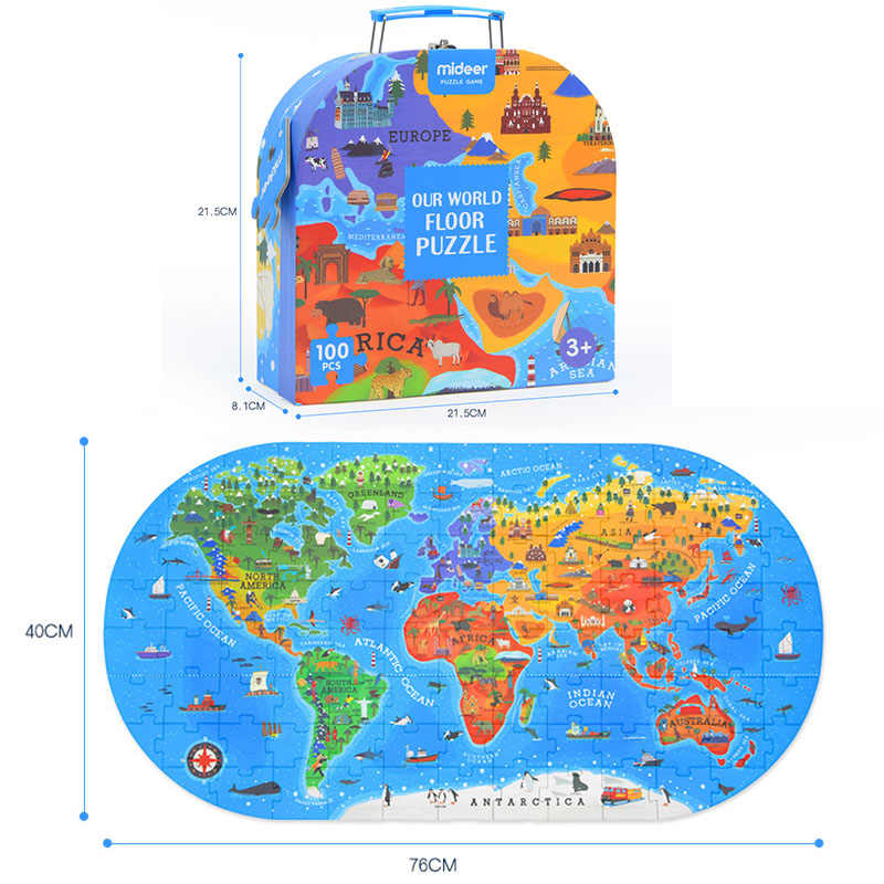 Puzzle Kids Toy World Map Puzzles Educational Toys For Children Montessori  Materials Dinosaur Puzzle Brain Puzzle for Toddlers