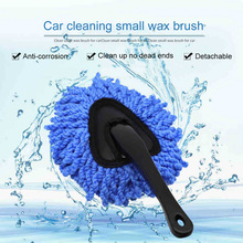 Car Cleaning Brush Microfiber Short Handle Home Clean Care Tool Portable Washable Window Dusting
