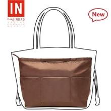 New Nylon Purse Handbag with handle and Retractable Key Ring Coffee Organizer Bag Organiser for Most Brand 2018