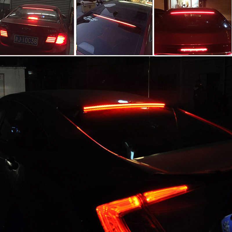 Mengalir Merah LED Mobil Rem Tambahan Lampu DRL Lampu LED Siang Hari untuk Ford Fokus Mondeo Fiesta Skoda Octavia Cepat fabia