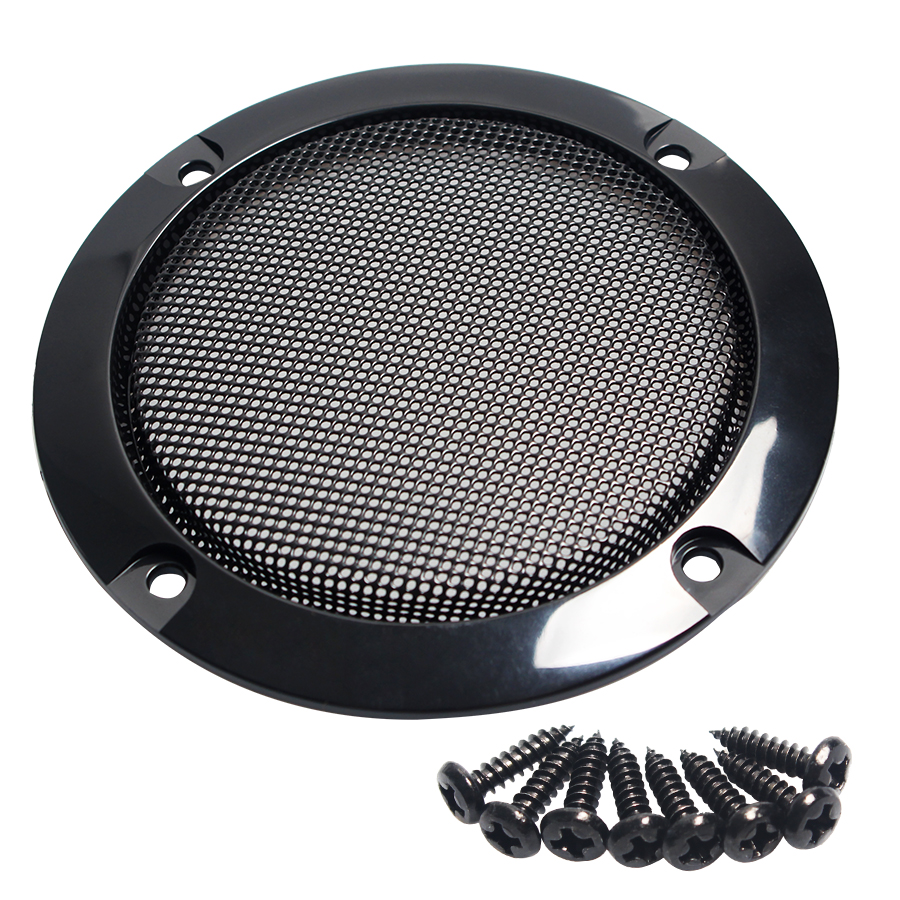 2PCS 3Inch Black Circle Speaker Decorative Replacement Round 124mm Speaker Protective Mesh Net Cover Grille Speaker Accessories