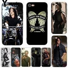 Yinuoda The Walking Dead Daryl Dixon Shining Colorful Phone Case for iPhone X 8 7 6 6S Plus X 5 XS XR 11 11pro 11promax недорого