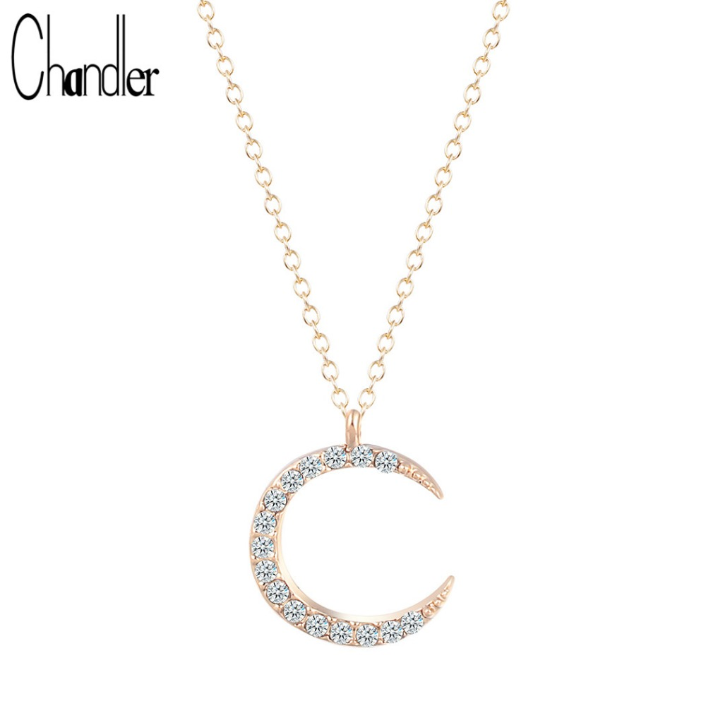 chandler brand plated crescent moon necklaces amp pendant