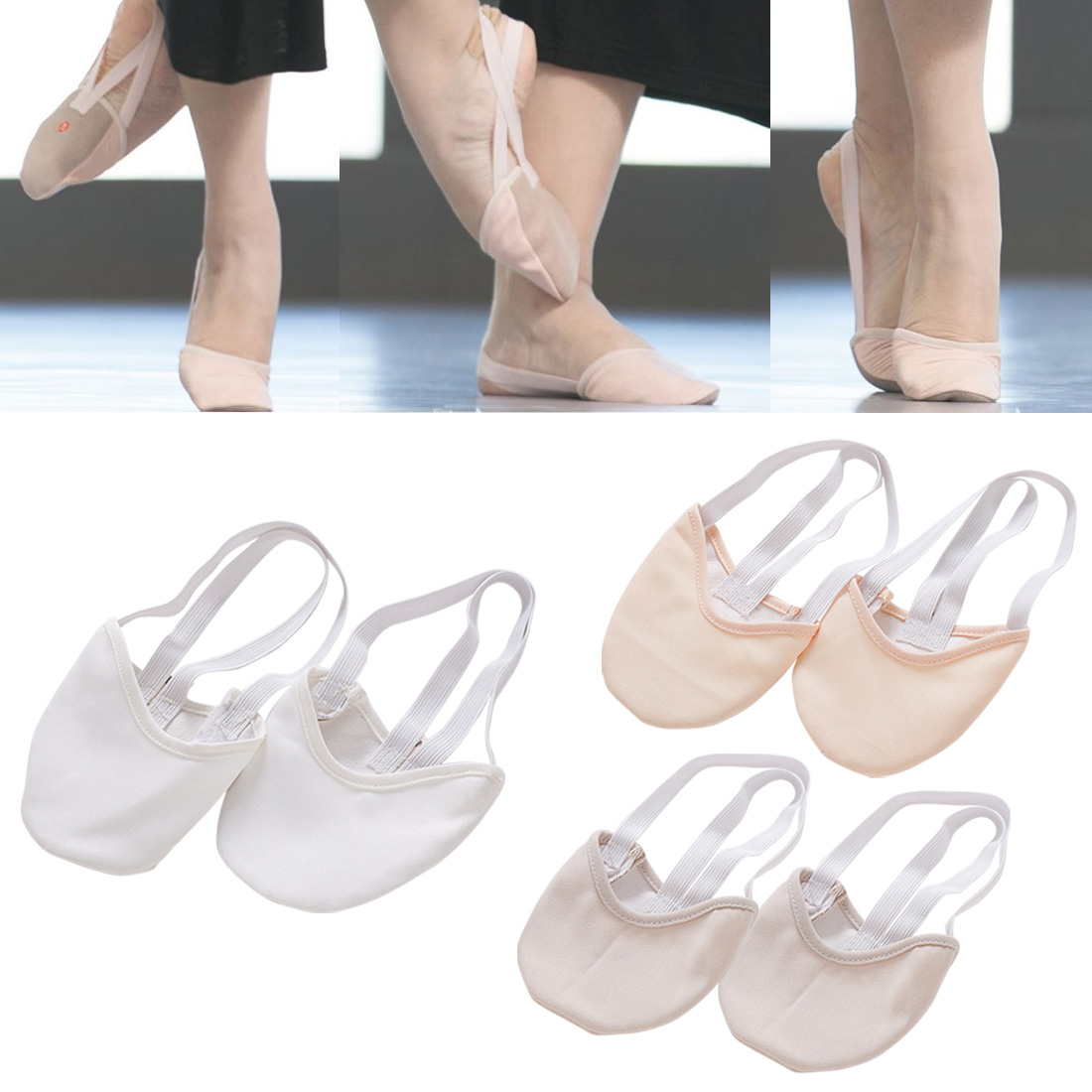 Pro Half Length Rhythmic Gymnastic Shoes Roupa Ginastica Child Adult Gymnastics Pig Skin Sole Shoes Beige Dancing Dance
