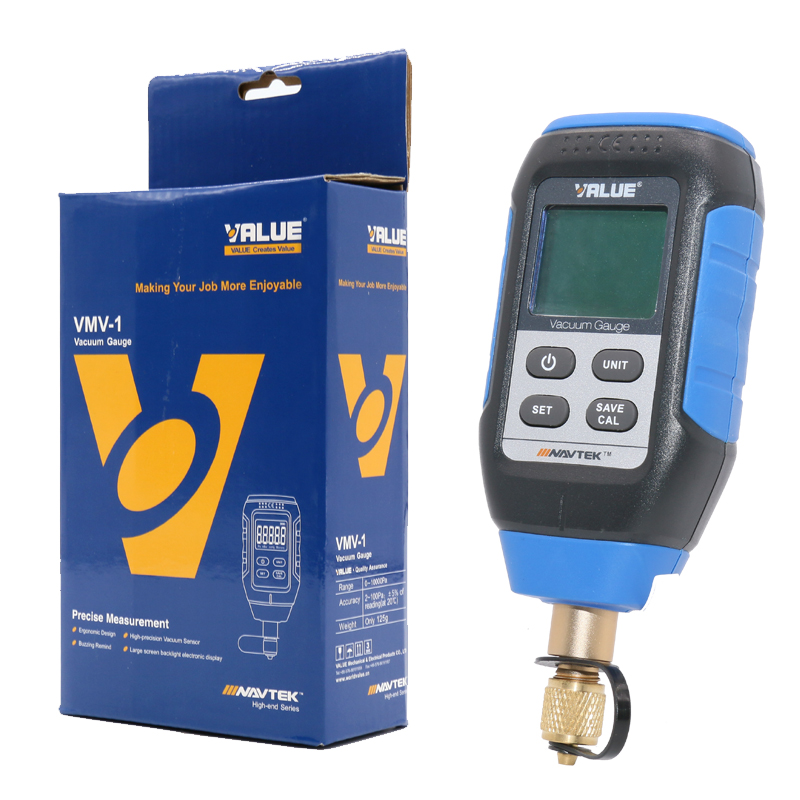 Tools : Intelligent digital vacuum gauge Laboratory refrigeration system vacuum inspection vacuum gauge VMV-1 0-10000P