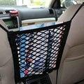 Universal car asiento neto bolsa de malla de almacenamiento organizador equipaje titular de bolsillo para iphone teléfono celular de la venta caliente