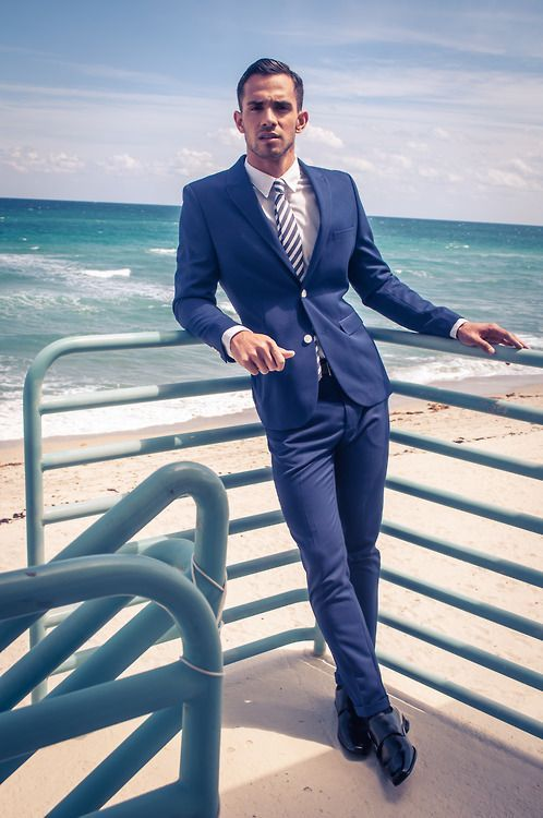 844b03c4f83b Summer Beach Men Suits Blue Slim Fit Custom Wedding Suits Prom Tailored  Made Tuxedos 2 Pieces Blazer Masculino (Jacket+Pants) X