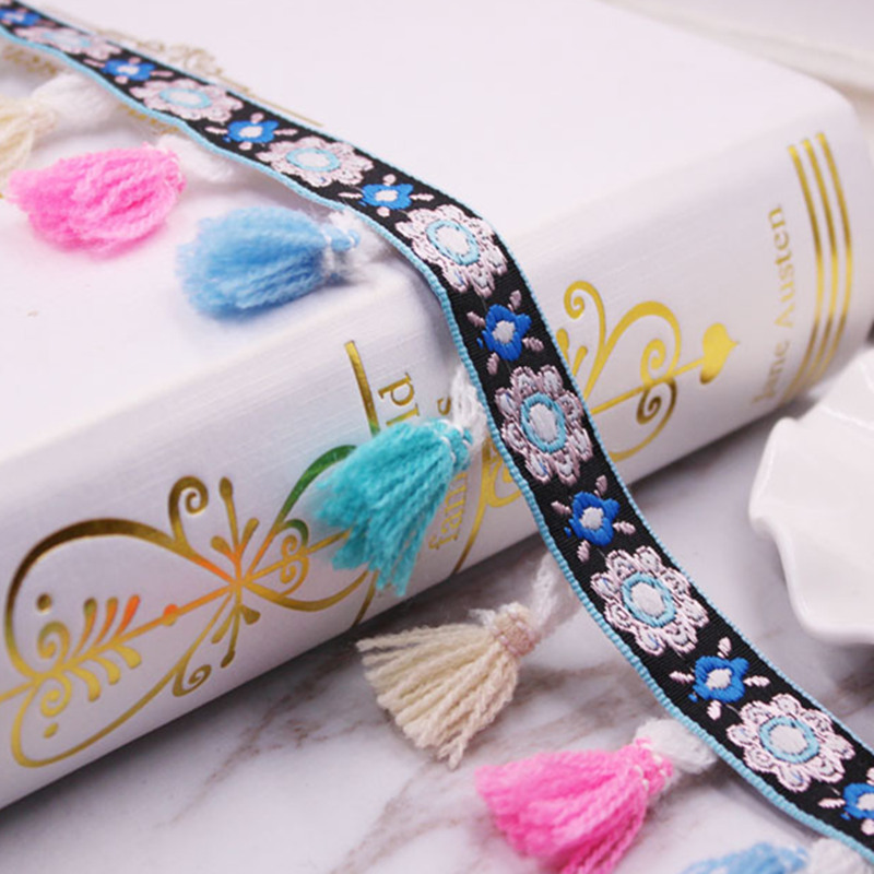 20Yards Wide 4.5cm Ethnic Style tape tassel retro lace ribbon for DIY Sewing Accessories Headwear or handmade decorative jewelry