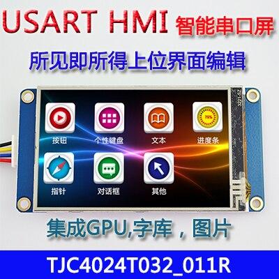 3.2นิ้วUSART HMIหน้าจอสัมผัสที่มีGPUตัวอักษรภาพหน้าจอTFT LCDอนุกรมการกำหนดค่า