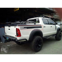 free shipping tailgate straps rock warrior graphic vinyl car sticker for toyota hilux vigo pickup accessories