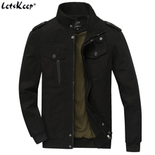 LetsKeep Spring army Bomber Jacket Men autumn tactical military jacket mens cotton casual jackets coat plus size 6XL , MA340