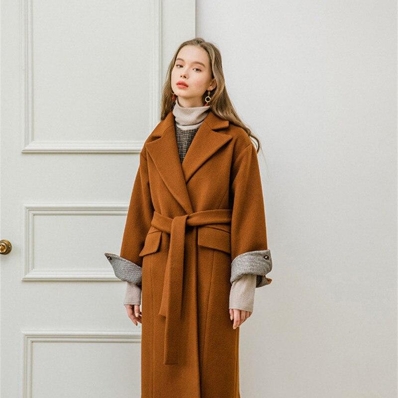 Vintage Long Camel Oversize Mode Laine Dames Manteau Manteaux 2018 Coréenne D'hiver Femme SqxYtzZ