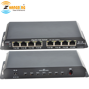 Image 4 - Gigabit Power Over Ethernet PoE Switch 7 PoE port +1 UPlink  Port For CCTV IP Camera WiFi Access point 24V 48V