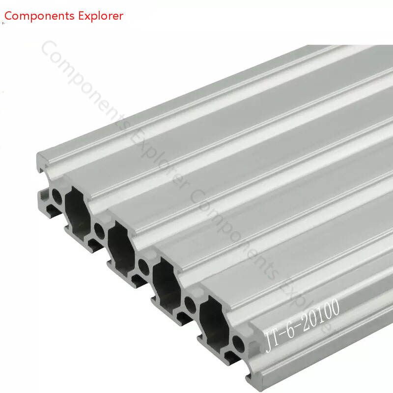 Arbitrary Cutting 1000mm 20100 Aluminum Extrusion Profile,Silvery Color.