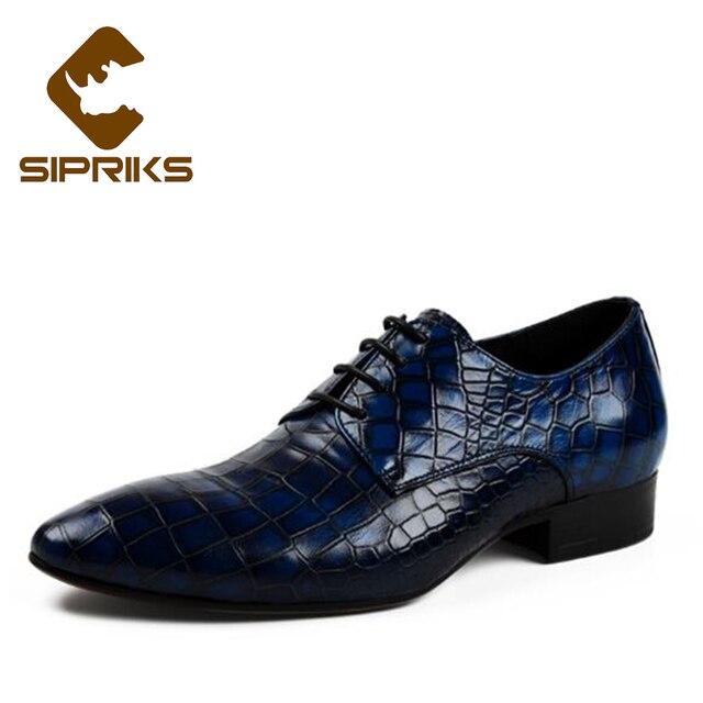 Sipriks Mannliche Hochzeit Schuhe Spitz Blauen Kleid Schuhe