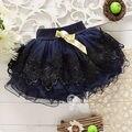 2017 niña princesa mini dress kid medio slip faldas tutus falda corta