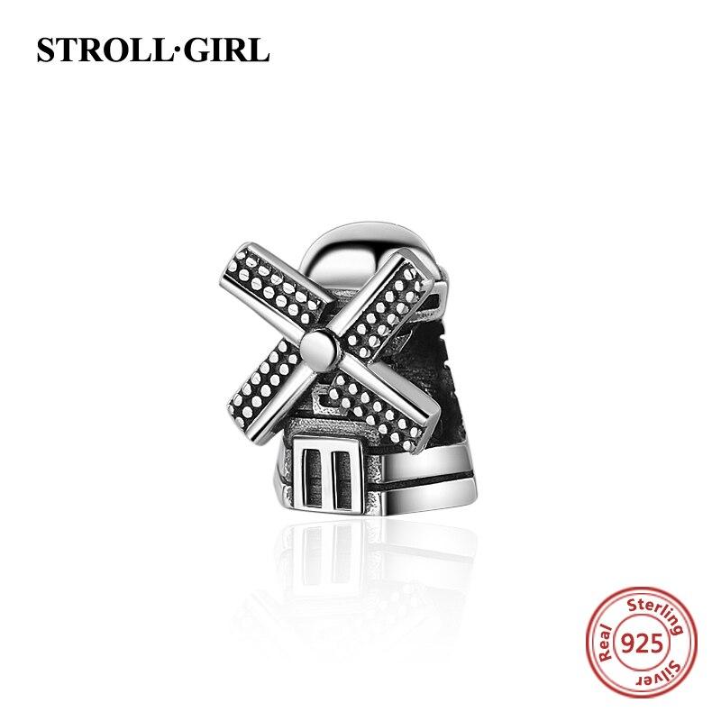 Nouvelle arrivée Fit Authentique Pandora Bracelets Moulin petite maison charmes 925 Argent Perles Bijoux de mode de Décision pour Femmes Cadeaux