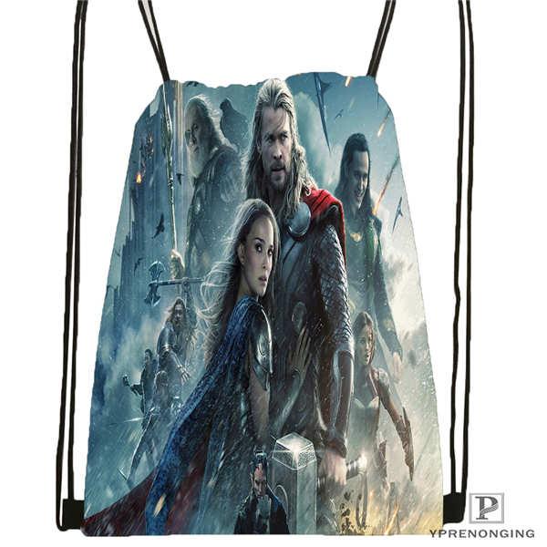Custom Tom-Hiddleston-Loki Drawstring Backpack Bag For Man Woman Cute Daypack Kids Satchel (Black Back) 31x40cm#20180611-03-143