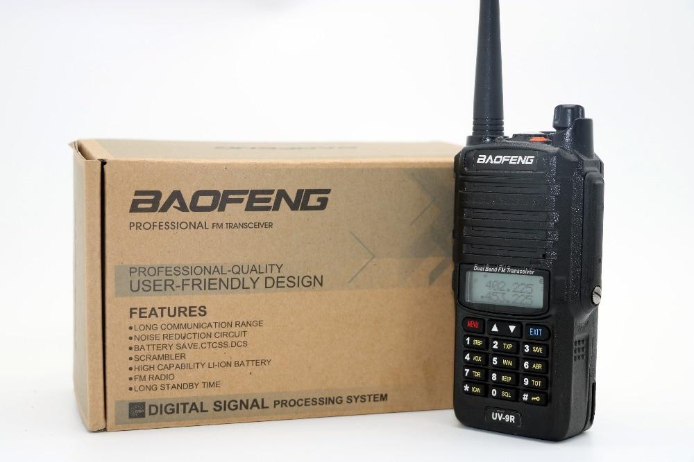 Baofeng uv-9r étanche ip-67 talkie walkie 5 w 128ch radio dual band uhf vhf vox cb radio lampe de poche fm uv9r émetteur-récepteur