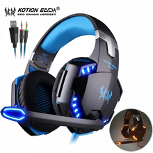 EACH G2000 Dazzle Lights Hifi Pro Gaming Headphone Game Headset+7 Button 5500 DPI Professional Gamer Mouse Mice