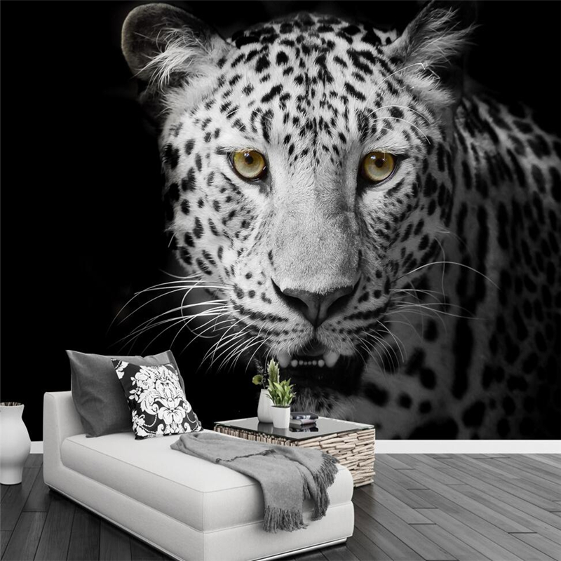 Leopard Black And White Wallpaper