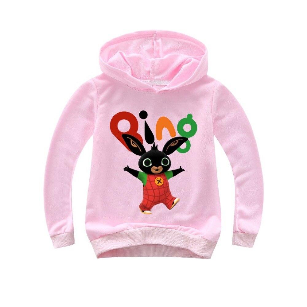 Bunny Hoodie Girls Sweatshirts Rabbit Toddler Bing Cartoon Children Casual for Boy Tops