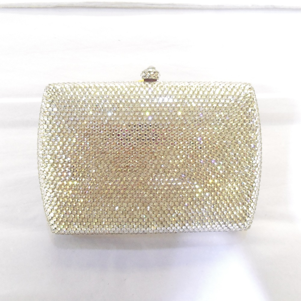 ФОТО 7759S Crystal Lady fashion Bridal wedding Metal Evening purse clutch bag case box handbag