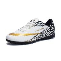 Size 33 44 Men Boy Kids Soccer Cleats Turf Football Soccer Shoes TF Hard Court Sneakers