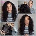 Glueless perucas cheias do laço para as mulheres negras preto / marrom peruca frente Virgin Curly brasileiro Full Lace Wig com cabelo do bebê